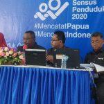 Pimpinan BPS Provinsi Papua saat merilis pertumbuhan produksi Industri Manufaktur Besar dan Sedang. (Zulkifli)