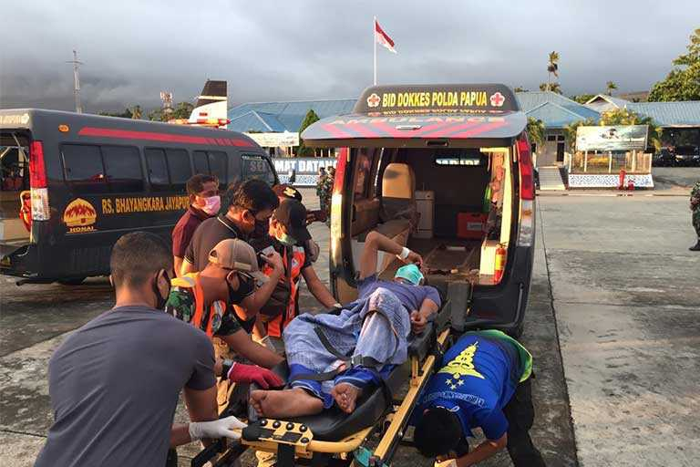 anggota polres korban penembakan anggota tni di mamberamo raya