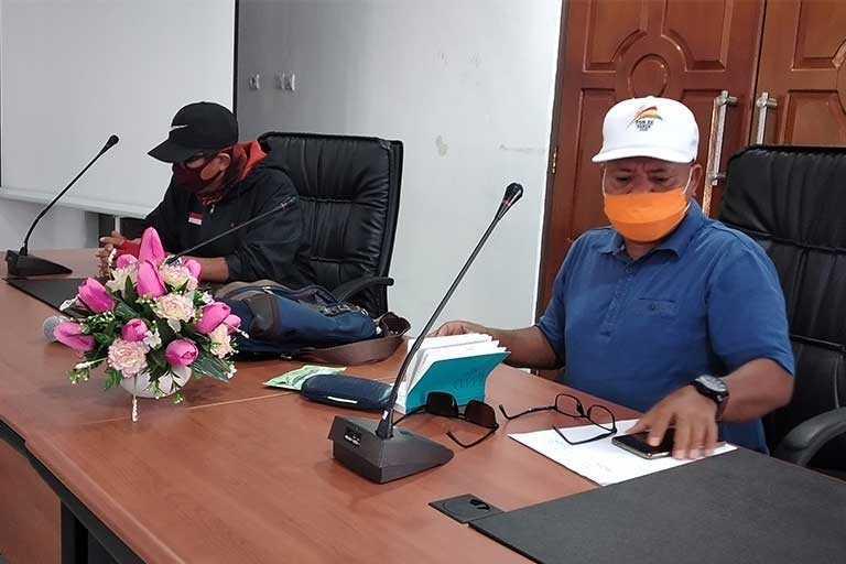 PB PON Papua Mendata Wartawan Peliput PON