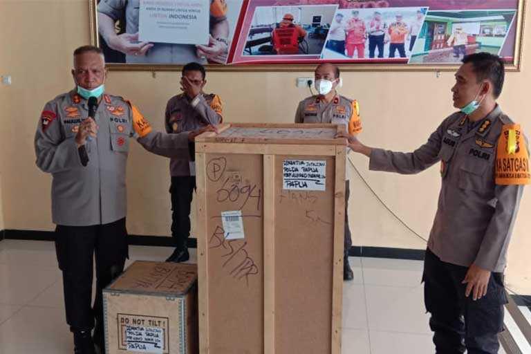 Polda Papua Dapat Alkes Ventilator