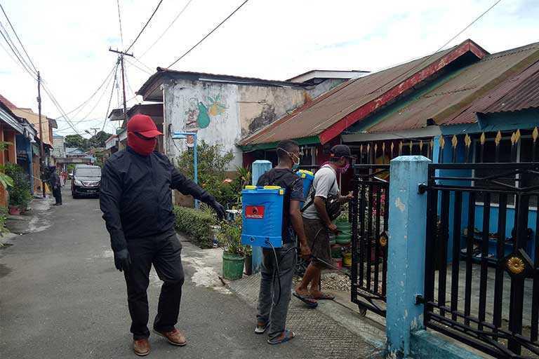 PDIP Papua Lakukan Penyemprotan Disinfektan