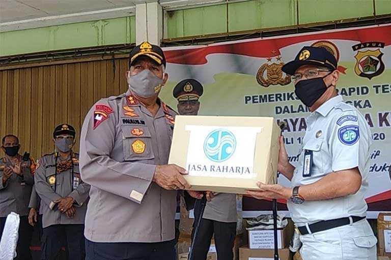 Jasa Raharja Bersinergi dengan Polda Papua