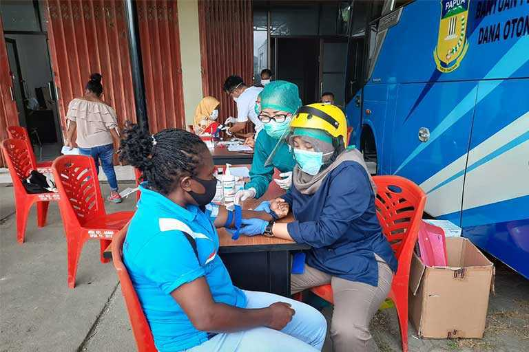 Atlet Peparnas Papua Jalani Rapid Test