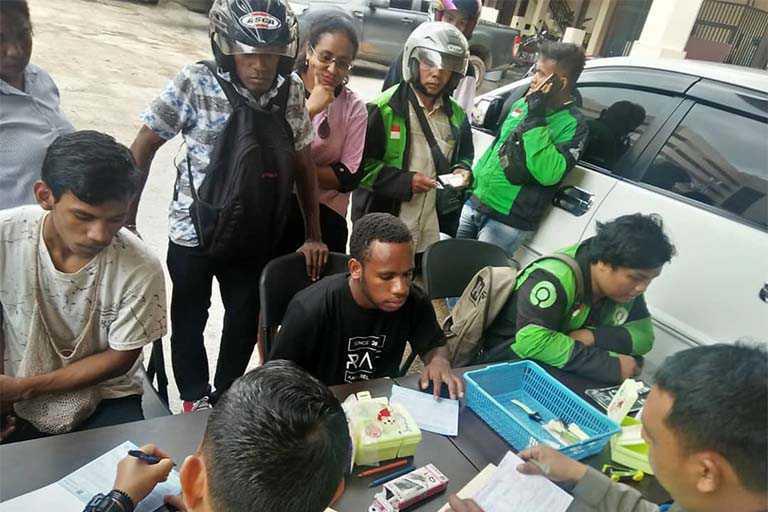 Pengendara Motor di Kota Jayapura Ditilang