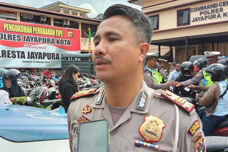 Ribuan Pengendara di Kota Jayapura Kena Tilang