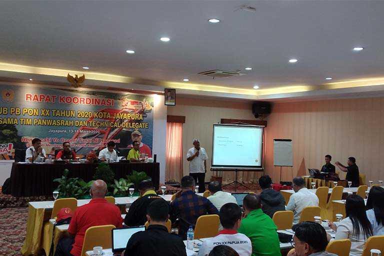 Venue dan Peralatan PON Papua Jadi Perhatian KONI Pusat