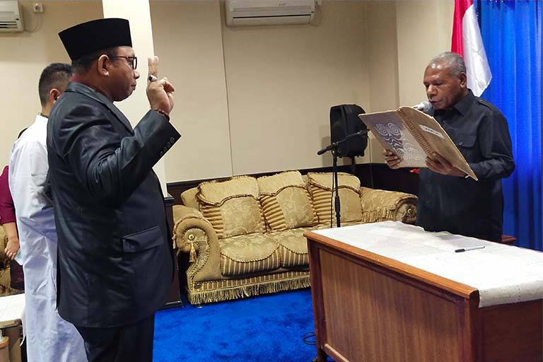 pelantikan Kadis Dukcapil Kabupaten Jayapura