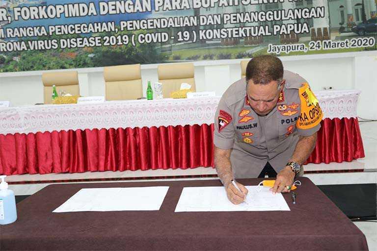 Polda Papua akan tindak tegas penimbung Alkes dan Sembako
