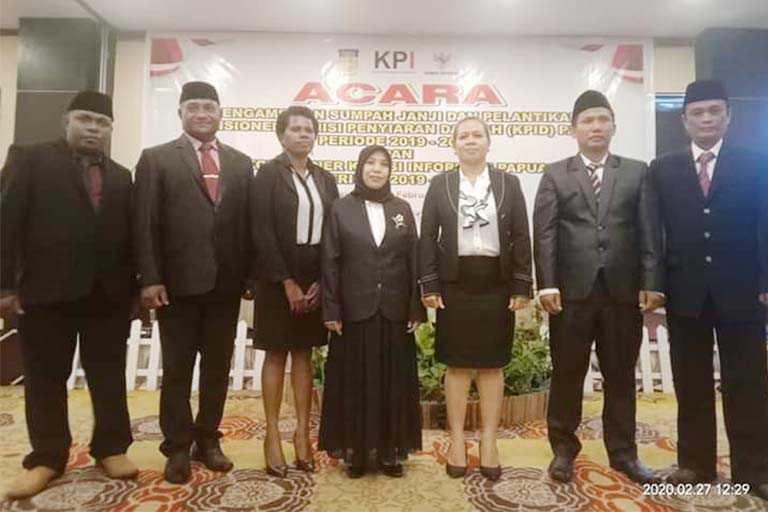 Rusni Abaidata Terpilih Sebagai Ketua KPID Papua Periode 2019–2022