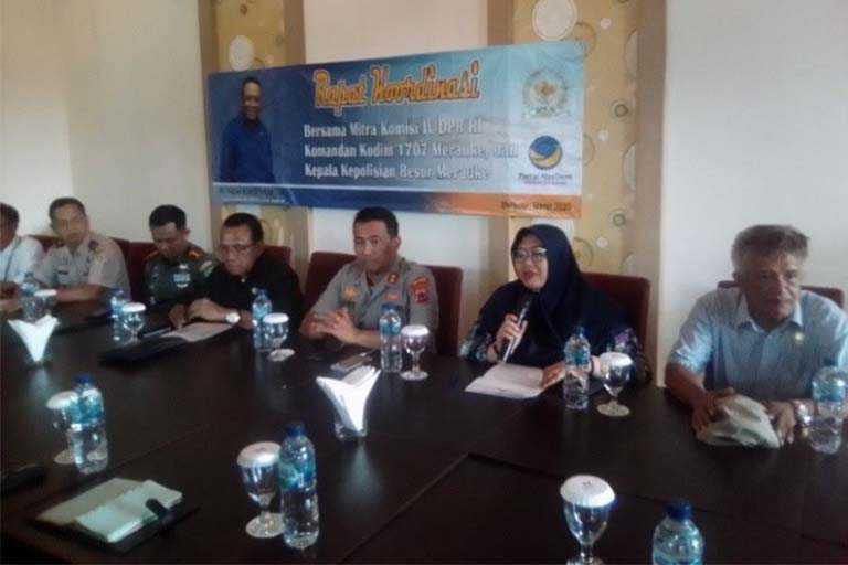 Rapat Koordinasi Bersama Mitra Komisi IV DPR RI di merauke