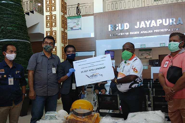 Bantuan APD dari Bank Mandiri