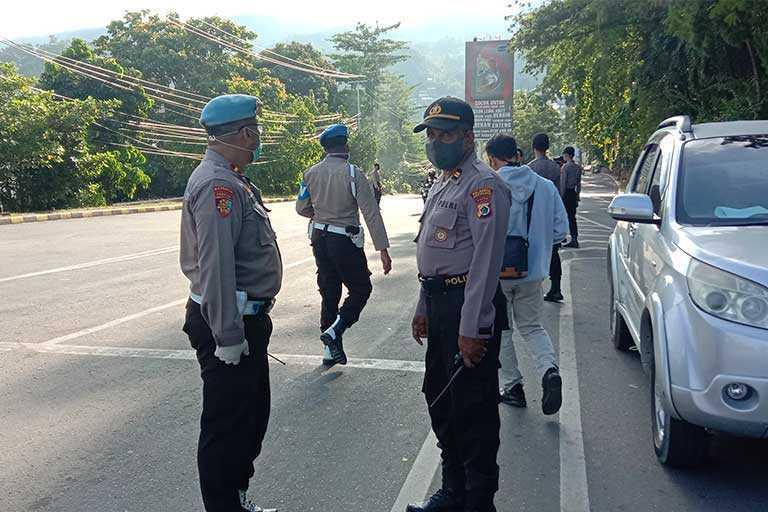 16 Titik Di Kota Jayapura Diblokade