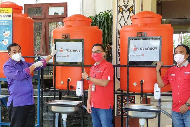 Pemkot Jayapura Terima Bantuan Tempat Cuci Tangan