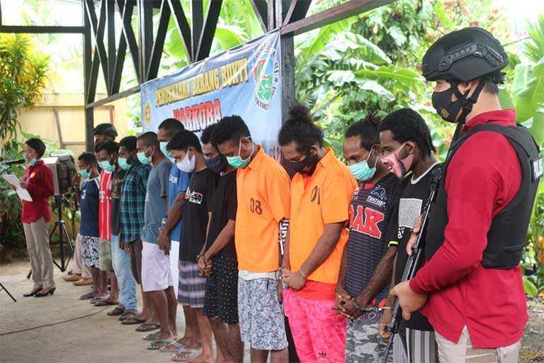 Polda Papua Ungkap Belasan Kasus Narkotika