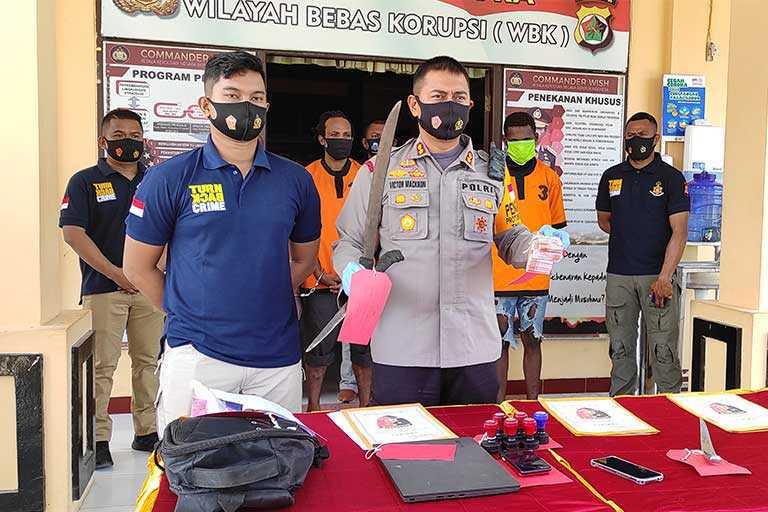 Polres Jayapura Berhasil Ungkap Tiga Kasus Curas